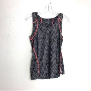 Athleta Athletic Pop Space Dye Run Black Tank M